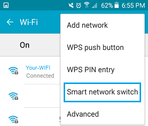 Smart Network Switch Option on Android Phone