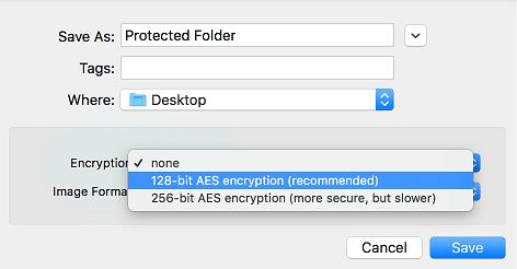 128-bit AES Encryption on Mac