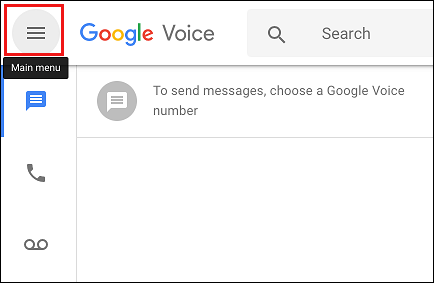 3-line Icon in Google Voice