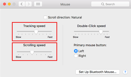 Adjust Tracking and Scrolling Speed on Mac