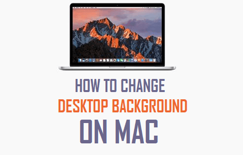how to change desktop background on mac