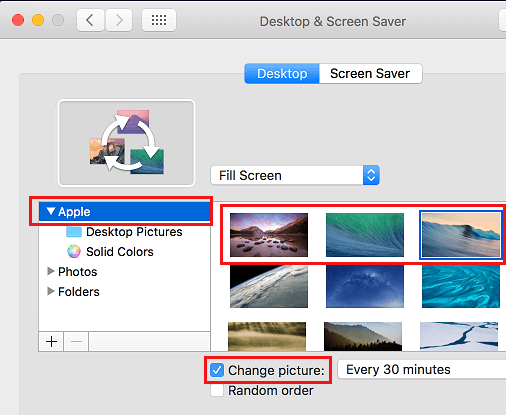 Choose Stock Apple Photo as Background on Mac