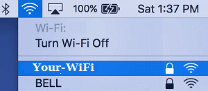 Join WiFi Network on Mac