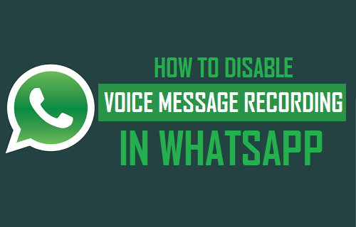Disable Voice Message Recording in WhatsApp