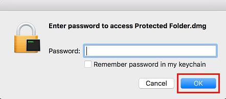 Enter Password for Folder on Mac