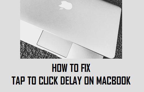 Fix Tap to Click Delay on MacBook