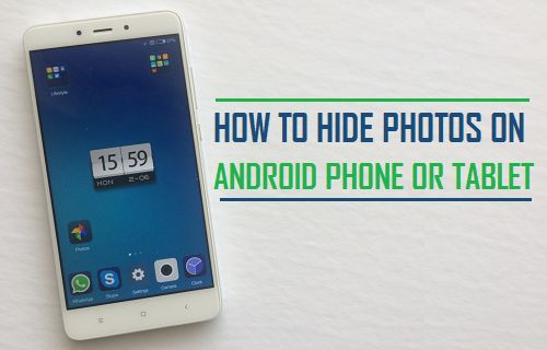 Hide pics on android phone
