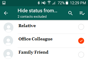 Hide WhatsApp Status From Specific Contacts On Android Phone
