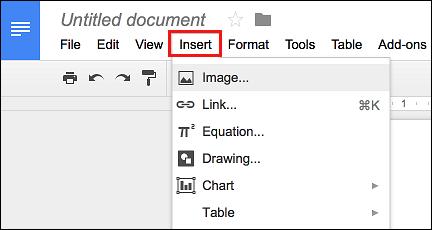 Insert Image into Google Docs