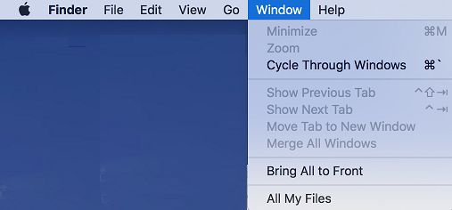 Mac Menus With Transparency Enabled