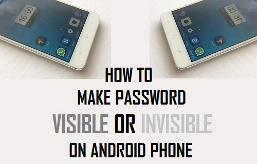 Make Password Visible or Invisible on Android Phone