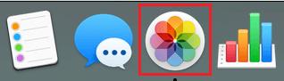 Photos Icon on the Taskbar of Mac