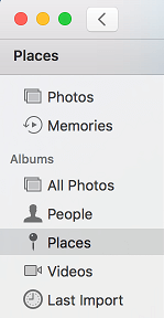Places Tab in Mac Photos App