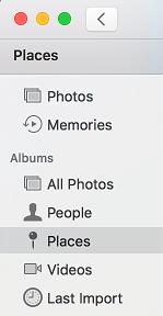 Places Tab in Mac Photos App