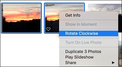 Rotate Photos Using Photos App