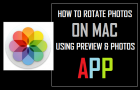 Rotate Photos On Mac Using Preview & Photos App
