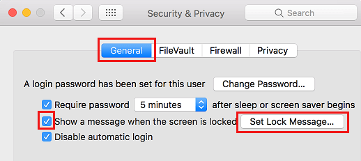Set Lock Screen Message on Mac