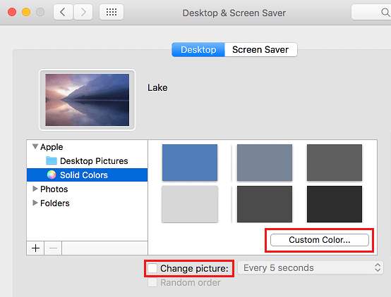 Set Solid Colour as Desktop Background on Mac