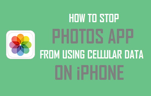 Stop Photos App From Using Cellular Data On iPhone