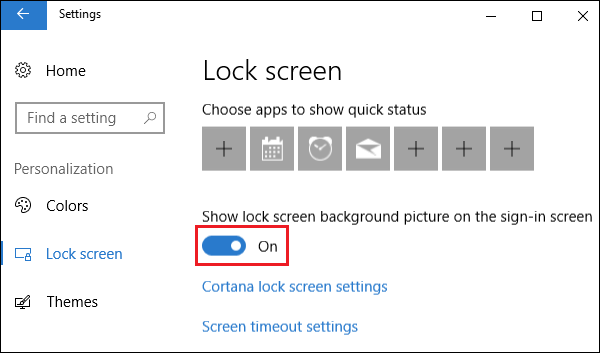 Show Lock Screen Background Picture on the Sign-in screen