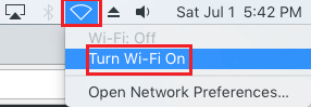 Enable WiFi on Mac