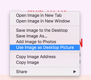 Use Image as Desktop Picture in Safari on Mac