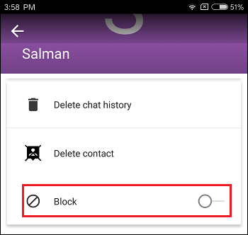 Block Contact Option in imo on Android Phone