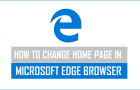 How to Change Home Page in Microsoft Edge Browser