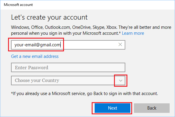 How to Create Microsoft Account Using Gmail