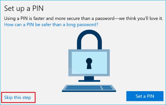 Setup PIN to Login to Windows 10