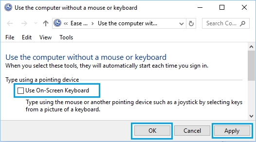 How to Disable On-Screen Keyboard in Windows 10