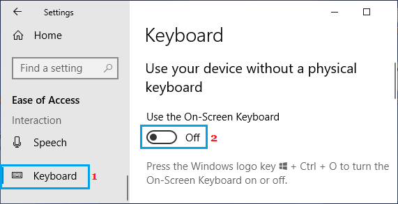 Disable On-Screen Keyboard
