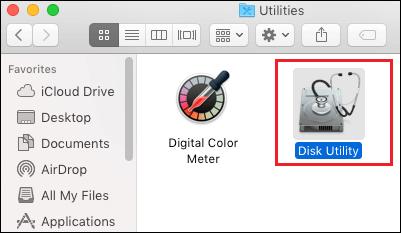 Disk Utility Program on Mac