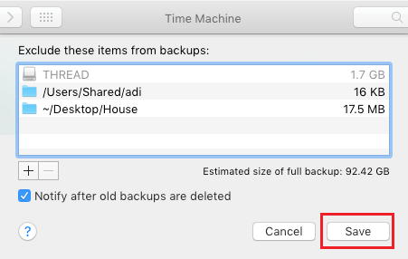 Exclude Files, Folders From Time Machine Backups On Mac