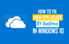 How to Fix High CPU Usage By OneDrive In Windows 10