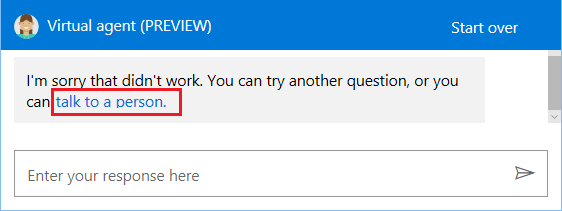 Talk to Person Option in Windows 10 Get Help App