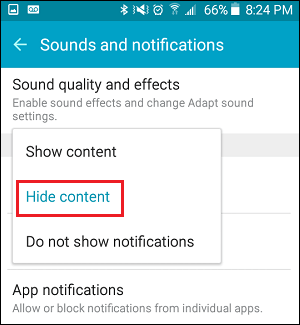 Hide Content From Lock Screen Notifications on Android Phone