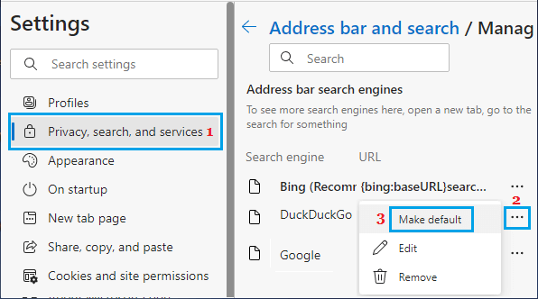 Make DuckDuckGo As Default Search Engine in Microsoft Edge
