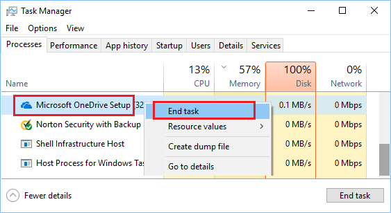 Close High Memory Process Using Task Manager
