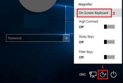 Use On Screen Keyboard From Windows 10 Login Screen