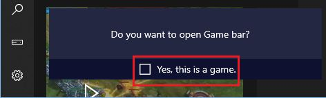 Do you Want to Open Game Bar Pop-up in Windows 10