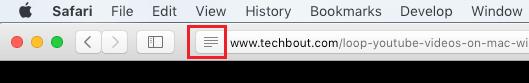 Reader Icon in Safari Browser on Mac