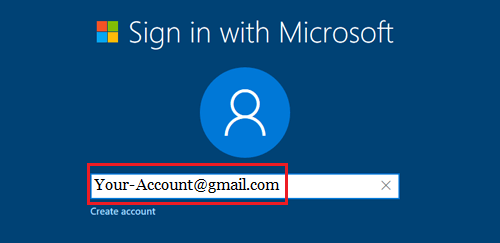 Sign In With Microsoft Account Screen During Windows 10 Setup