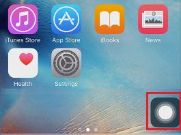 Assistive Touch Button on iPhone Home Screen