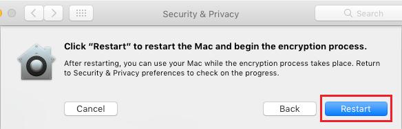 Start Process of Encrypting Files on Mac