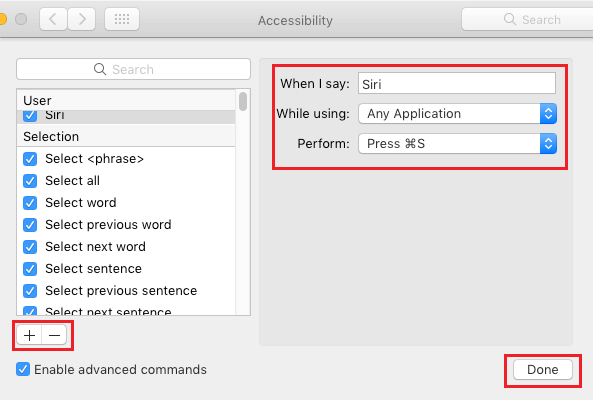 Create Dictation Command to Activate Siri on Mac