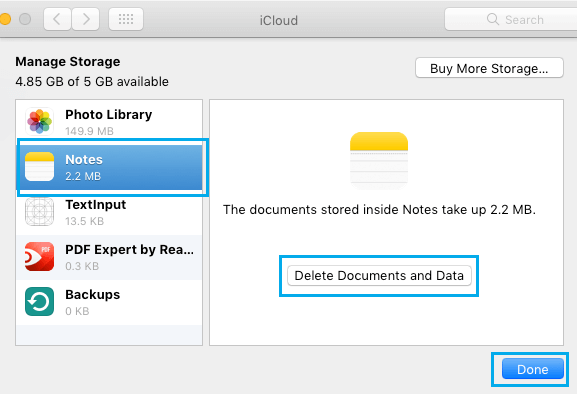 Delete Documents and Data for Apps on Mac