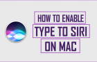 Enable and Use Type to Siri on Mac