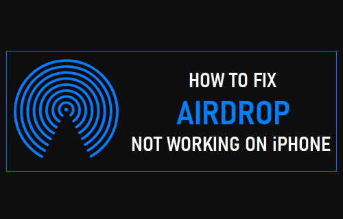 Fix AirDrop Not Working on iPhone