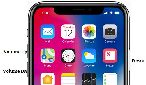 iPhone X Power and Volume Side Buttons